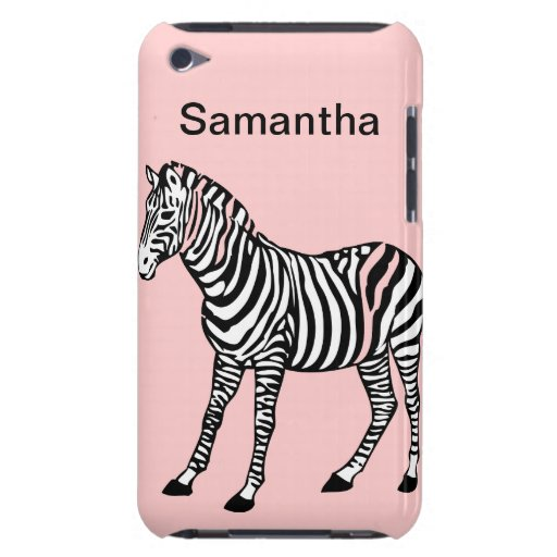 Cebra linda iPod Case-Mate protector
