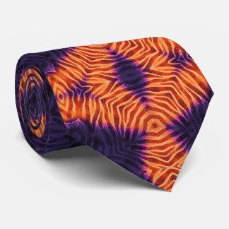 Cebra púrpura anaranjada fluorescente corbatas
