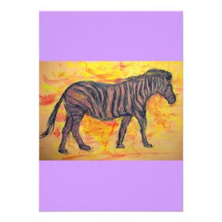 cebra púrpura comunicado personalizado