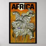 Cebras de los posters del viaje de África