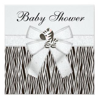 Cebras y fiesta de bienvenida al bebé lindas del invitación 13,3 cm x 13,3cm