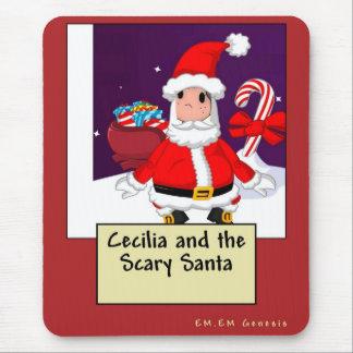 Cecilia y el Santa asustadizo Alfombrilla De Ratón