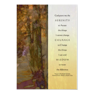 Cedros del rezo de la serenidad invitación 12,7 x 17,8 cm
