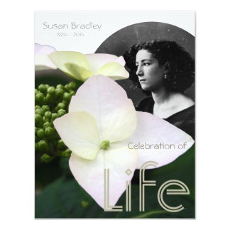 Celebración adaptable de la vida con el retrato - invitación 10,8 x 13,9 cm
