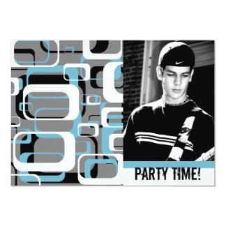 Celebración adolescente del fiesta del muchacho de invitación 12,7 x 17,8 cm