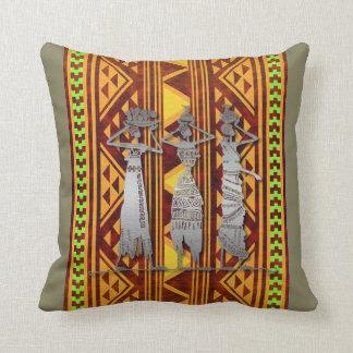 Celebración africana de la vida cojín decorativo