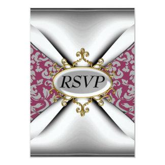 Celebración blanca roja RSVP de la fiesta de Invitación 8,9 X 12,7 Cm