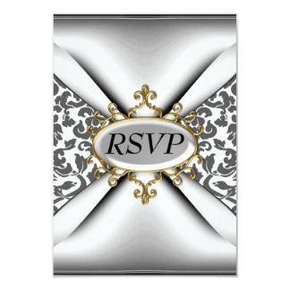 Celebración blanca RSVP de la fiesta de cumpleaños Invitación 8,9 X 12,7 Cm