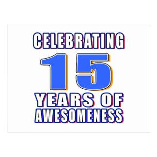 Celebración de 15 años de awesomeness postales
