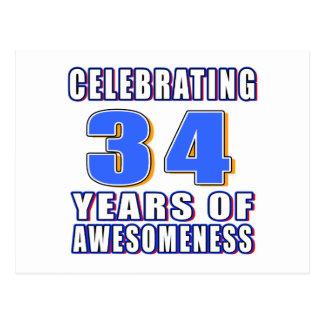 Celebración de 34 años de awesomeness postal