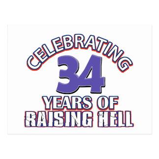 Celebración de 34 años de infierno de aumento postal