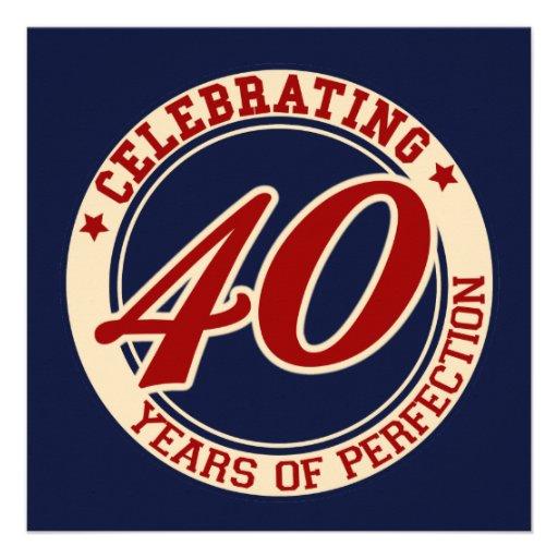 Celebración de 40 años de perfección comunicado personalizado