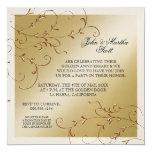 Celebración de 50 años, 50.a invitación del invitación 13,3 cm x 13,3cm