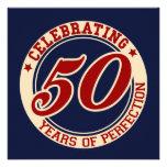 Celebración de 50 años de perfección invitación