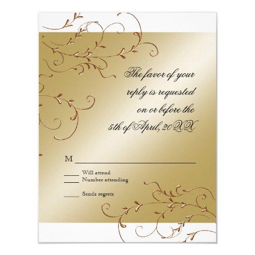 Celebración de 50 años, tarjeta de la respuesta de comunicado