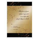 Celebración de 50 años, tarjeta de la respuesta de invitaciones personalizada