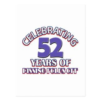Celebración de 52 años de infierno de aumento postal