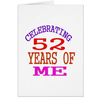 Celebración de 52 años de mí tarjeta de felicitación