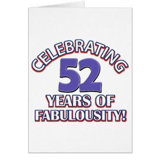 Celebración de 52 años felicitaciones
