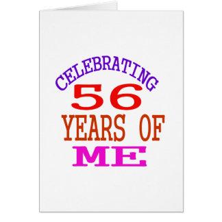 Celebración de 56 años de mí tarjeta de felicitación