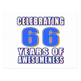 Celebración de 66 años de awesomeness postales