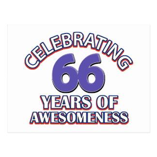 Celebración de 66 años postales