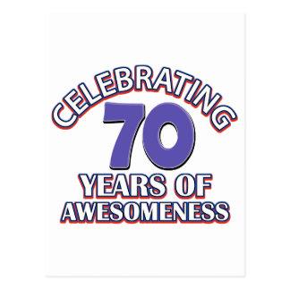 Celebración de 70 años postal