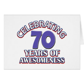 Celebración de 70 años tarjeta de felicitación