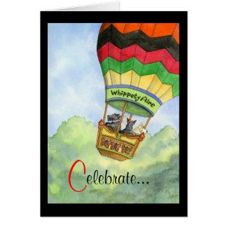 Celebración de aerostación del escocés tarjeta
