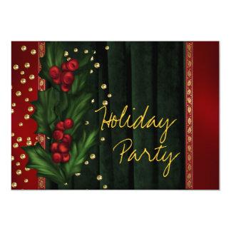 Celebración de días festivos corporativa verde invitación 12,7 x 17,8 cm