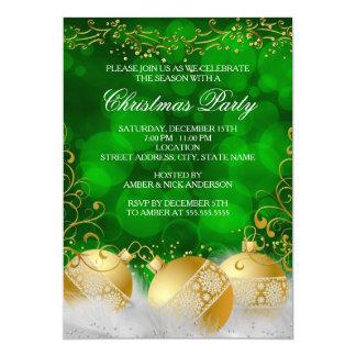 Celebración de días festivos del navidad blanco de invitación 12,7 x 17,8 cm