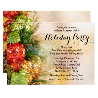 Celebración de días festivos elegante del árbol de invitación 12,7 x 17,8 cm