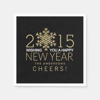 Celebración de días festivos moderna del copo de servilleta de papel