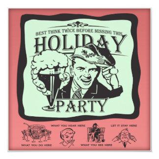 ¡Celebración de días festivos retra divertida! Invitación 13,3 Cm X 13,3cm