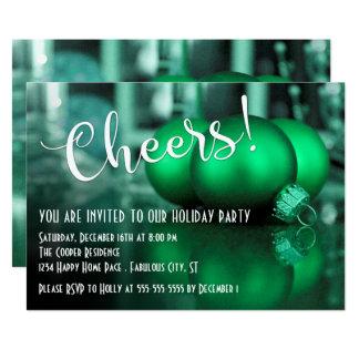 Celebración de días festivos verde de la imagen de invitación 12,7 x 17,8 cm