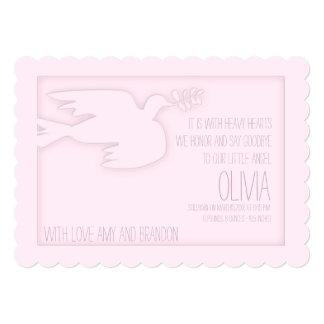 Celebración de encargo del bebé moderno rosado de comunicado personalizado