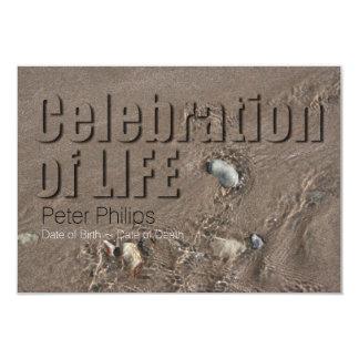 Celebración de la arena #1 de la ceremonia invitación 8,9 x 12,7 cm