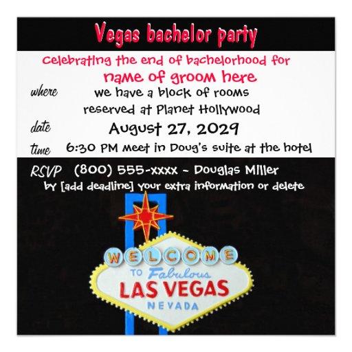 Celebración de la despedida de soltero de Vegas Comunicados Personalizados