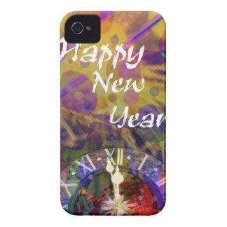 Celebración de la Feliz Año Nuevo Funda Para iPhone 4