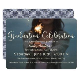 Celebración de la graduación de los fuegos invitación 12,7 x 17,8 cm