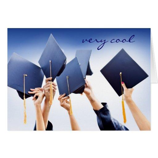 Celebración de la tarjeta de la graduación