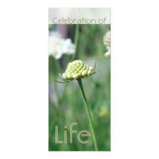 Celebración de la vida 2 - paisaje floral - invitación 10,1 x 23,5 cm