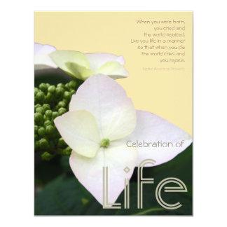 Celebración de la vida con cita + Fondo - Invitación Personalizada