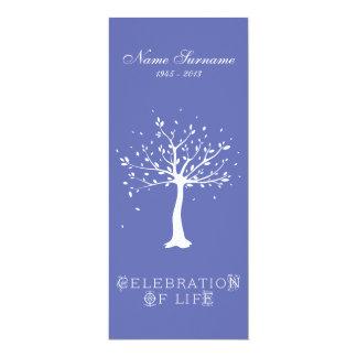 Celebración de la vida con el árbol elegante de la invitación 10,1 x 23,5 cm