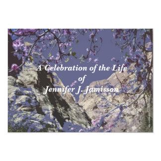 Celebración de las flores de las montañas de la invitación 12,7 x 17,8 cm