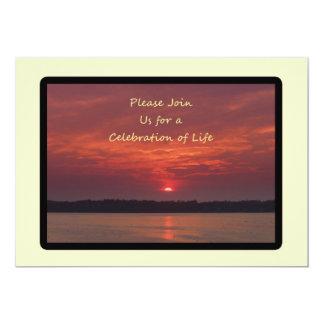 Celebración de las invitaciones de la vida invitación 12,7 x 17,8 cm