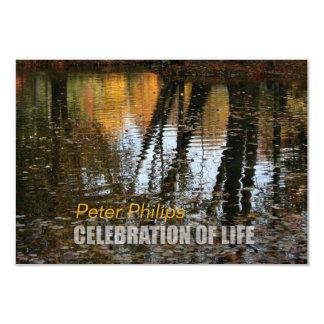 Celebración de las reflexiones del otoño de la invitación 8,9 x 12,7 cm