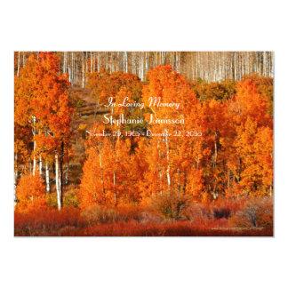 Celebración de los álamos tembloses del otoño de invitación 12,7 x 17,8 cm