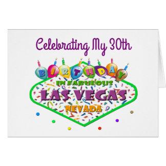 Celebración de mi trigésima tarjeta de cumpleaños