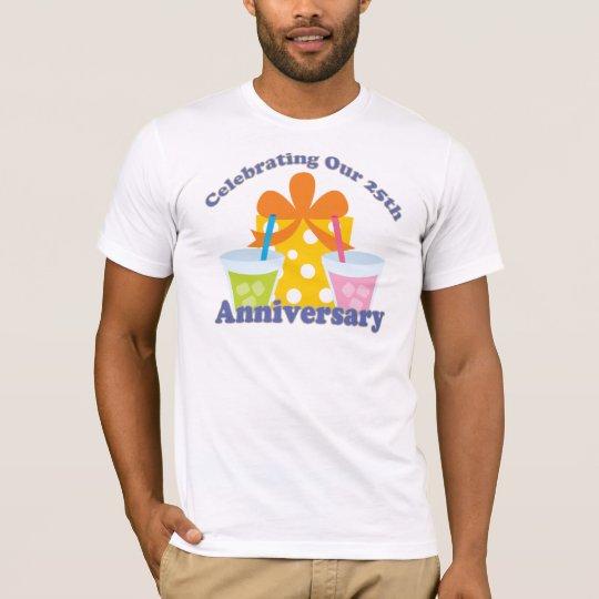 Celebración de nuestro 25to regalo del aniversario camiseta
